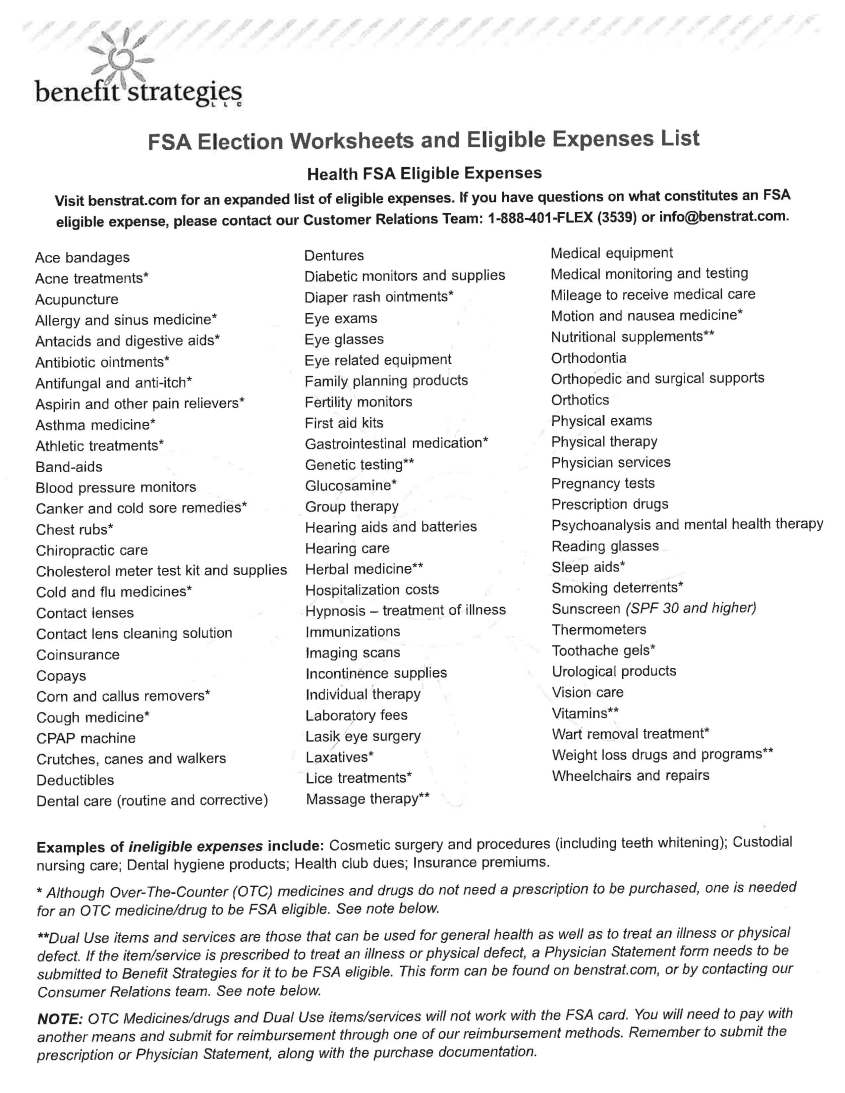 Eligible Expense List & FSA Store_Page_1
